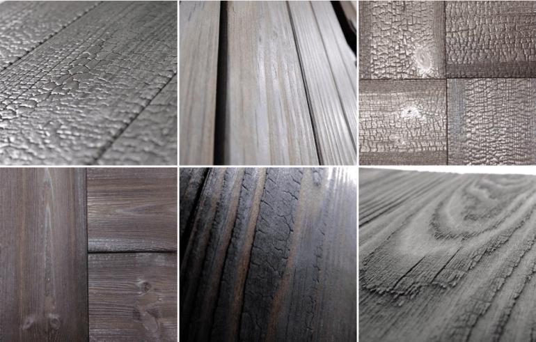 Le bois brûlémet en valeur la beauté naturelle du bois