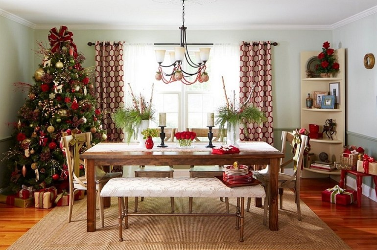 21 idées pour décorer votre salle à manger à Noël avec une touche festive