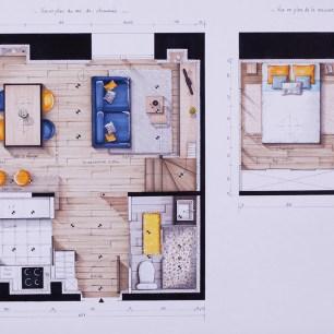 Plan de distribution de l'appartement