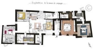Plan de distribution de l'ensemble de la maison