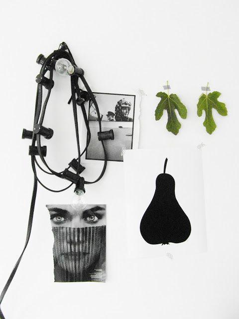 Une touche végétale et stylé dans une déco en noir et blanc // Simplicité et beauté //