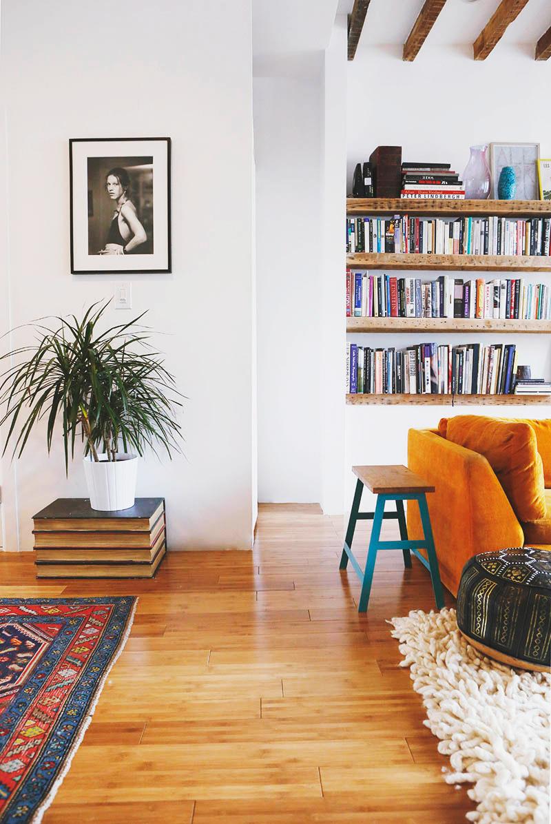 Belle rénovation et une touche bohème dans une maison à Brooklyn