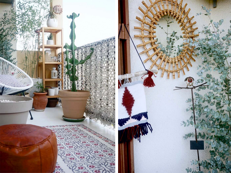 O antes e o depois da minha nova varanda com ares boêmios!