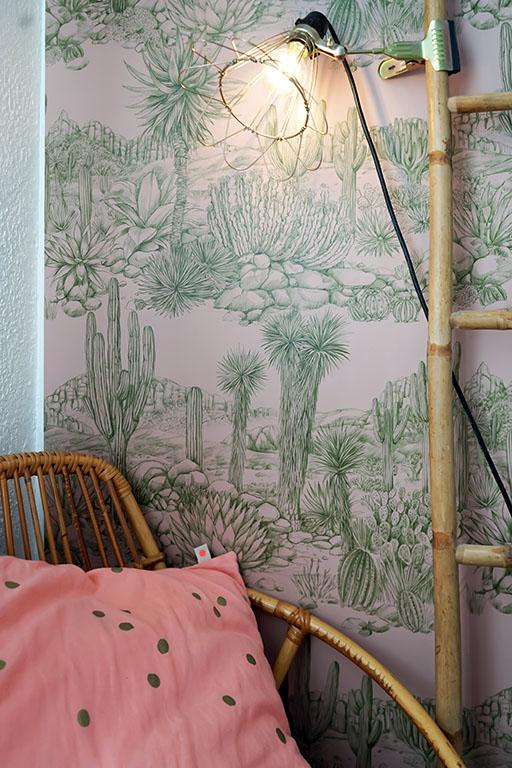 chambre_style_californien_papier_peint_cactus-9