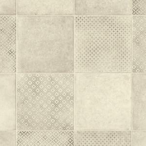 chute de sol vinyle textile renove carreaux de ciment motif nordique beige
