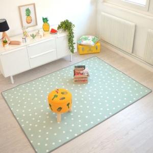 tapis chambre d enfant pois vert