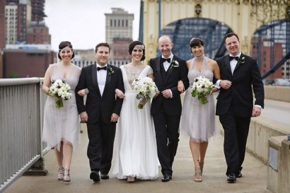 1920s Inspired Bridal Party