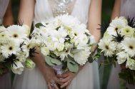 1920s White Wedding Bouquet