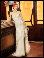 Flapper Wedding Dress - Yolan Cris Paris