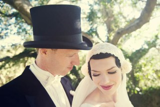 Art Deco Bride and Groom
