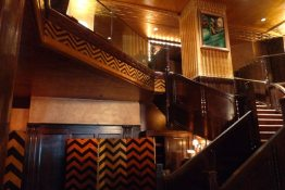Art Deco Staircase Chevron Pattern