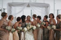 Art Deco Bridesmaids Winter Wedding