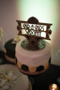 Art Deco Wedding Cake Topper