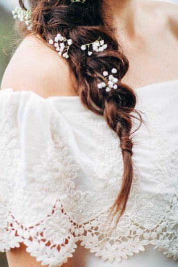 Boho Flower Braid Bridal Hair