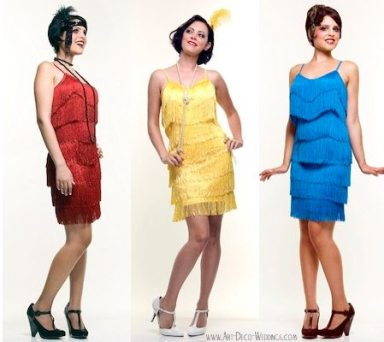 Flapper Fringe Bridesmaid Dresses