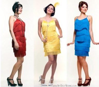 Flapper Fringe Bridesmaid Dresses