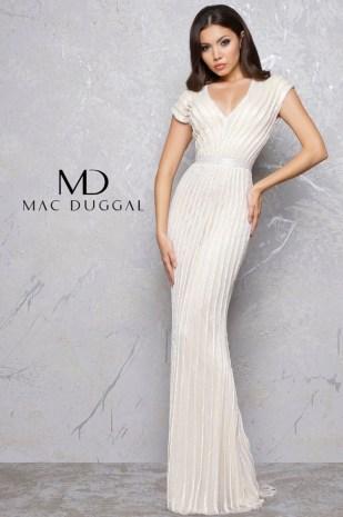 Art Deco Wedding Gown   Mac Duggal 4431D