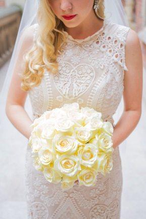 Pale Yellow Bridal Bouquet