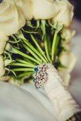 Something Blue Brooch Bridal Bouquet