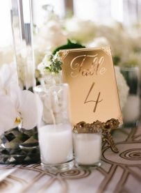 Vintage Gold Table Numbers