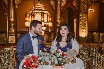 Vintage Wedding Venue Sweetheart Table