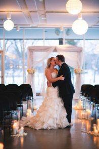 Winter Wedding Bride + Groom