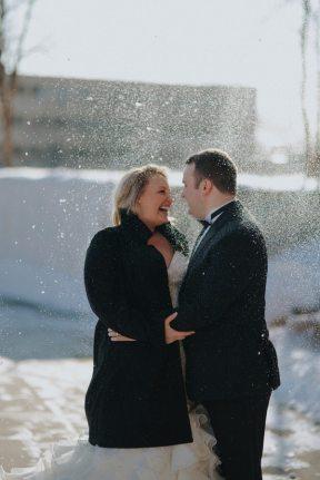 Winter Wedding Snow