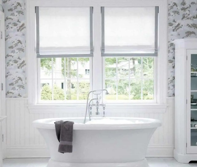 Grey Bathroom Curtains Nice White And Grey Roman