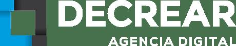 Decrear logo diseño web blanco