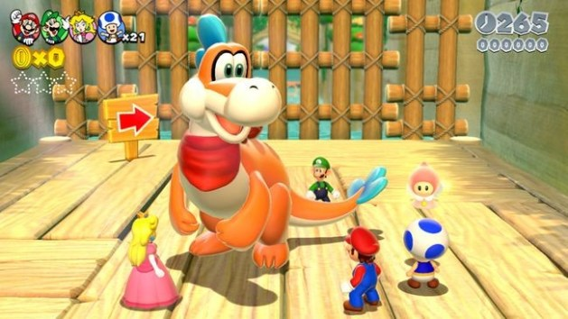 super mario 3d world dino