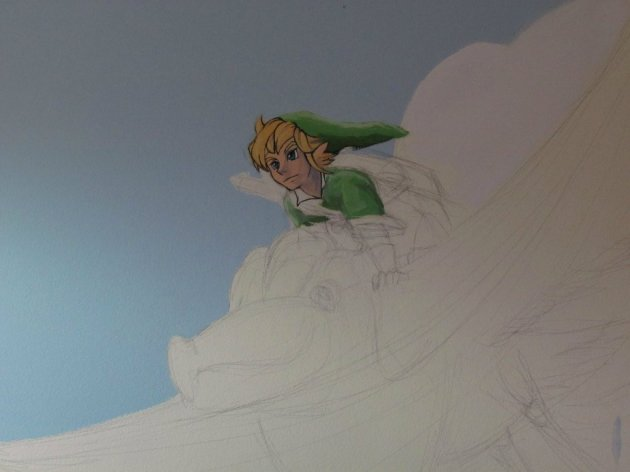 Zelda Skyward Sword pintura 03