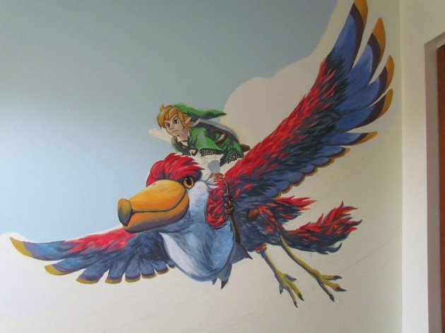Zelda Skyward Sword pintura 11