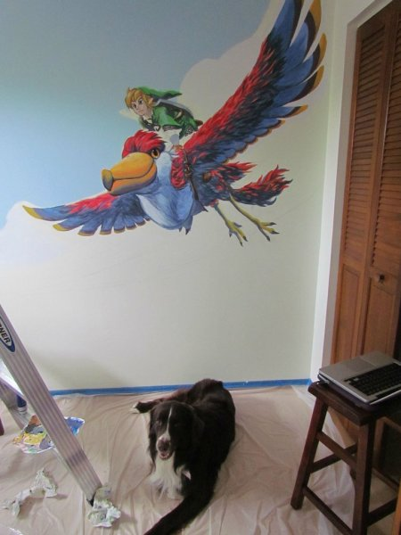 Zelda Skyward Sword pintura 12