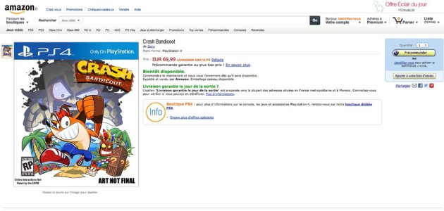 crash bandicoot ps4 amazon