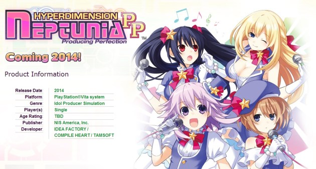 hyperdimension neptunia pp site