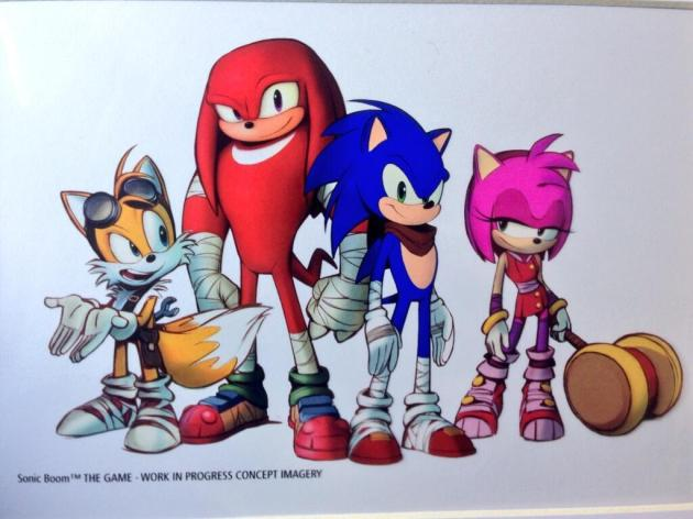 Sonic Boom tails knuckles amy diseños