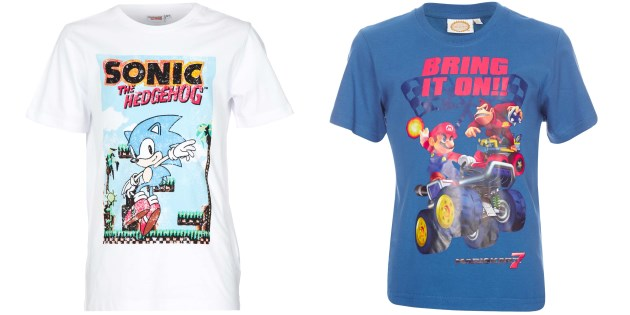 camisetas mario sonic kiabi