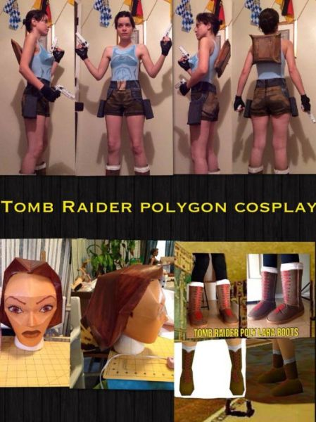 Lara croft psx cosplay 00
