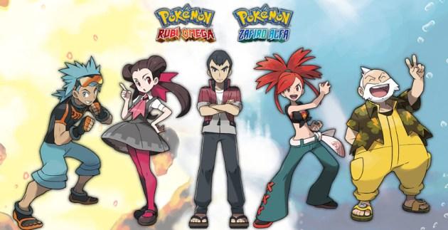Pokemon Rubi Omega Zafiro Alfa lideres gimnasio