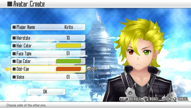 Sword Art Online Hollow Fragment Character Creation