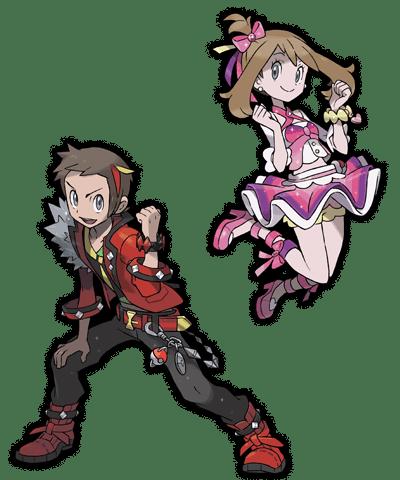 Trajes protagonistas pokemon rubi omega zafiro alfa 00