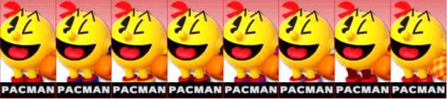 Pacman Palette Super Smash Bros 3DS
