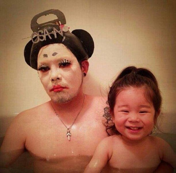 Padre japones hija bano geisha