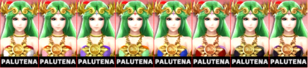 Palutena Palette Super Smash Bros 3DS