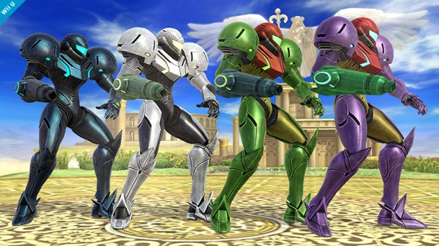 Samus Smash Bros 3DS WIi U colours 02