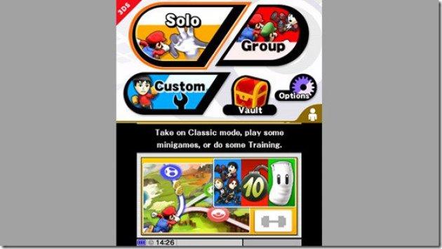 Super Smash Bros 3DS Menu 02