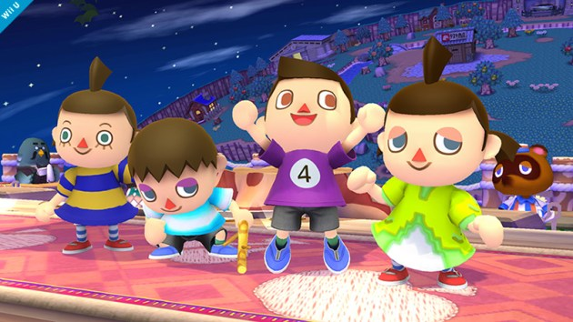 Villager Smash Bros 3DS WIi U colours
