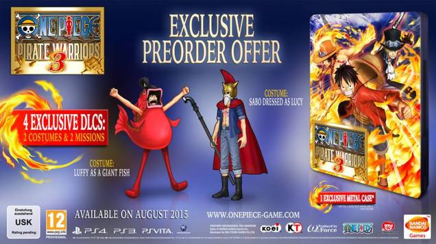 One Piece Pirate Warriors 3 preorder