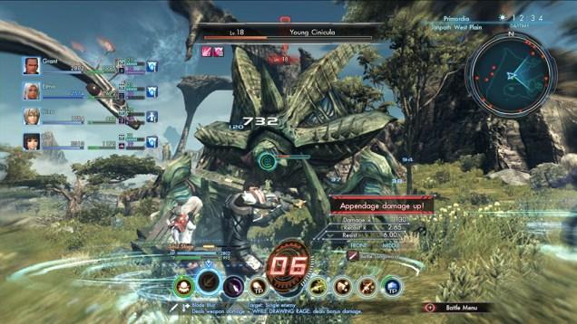 Xenoblade Chronicles X Batalla