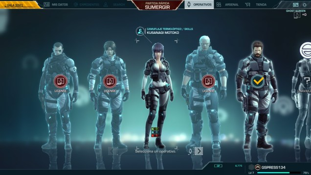 Ghost in the Shell SAC First Assault Online characters
